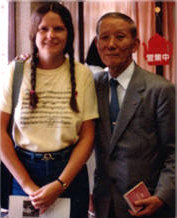 Edie Bennett with Dr. Shinichi Suzuki